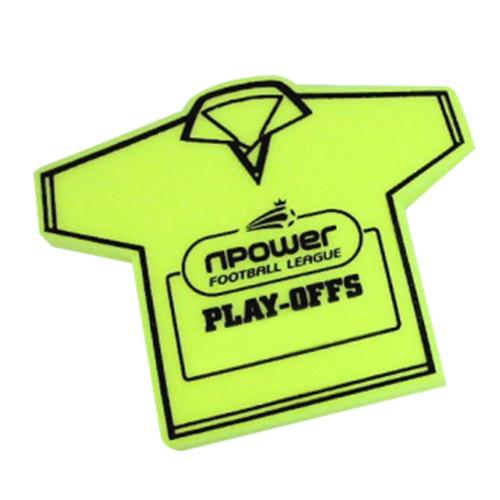 Foam t-shirt geel