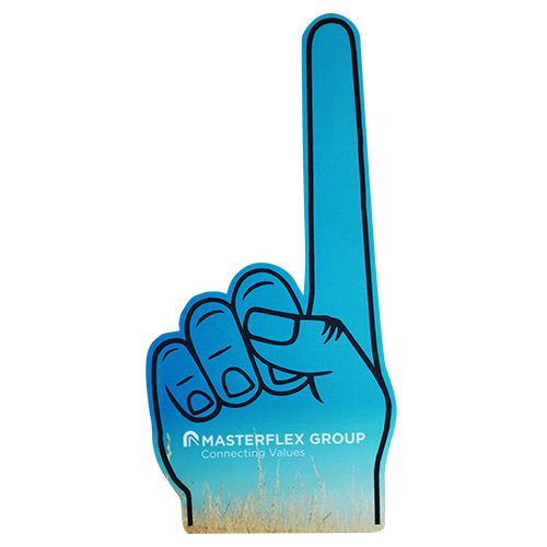 Big finger foam hand full color