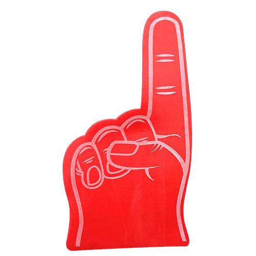 Foam hand wijsvinger rood