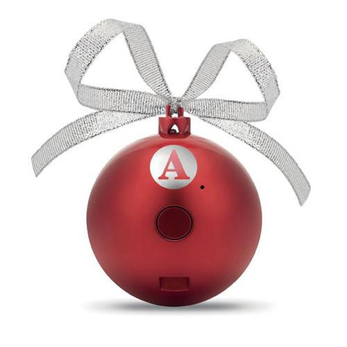 Kerstballen bluetooth rood strik bedrukken