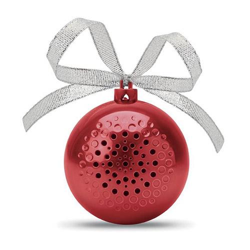 Kerstballen bluetooth speaker strik