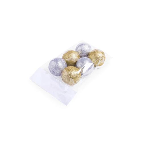 Kerstballen goud zilver 6st