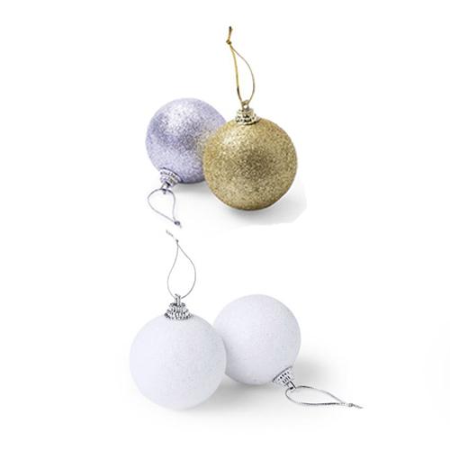Kerstballen goud zilver wit