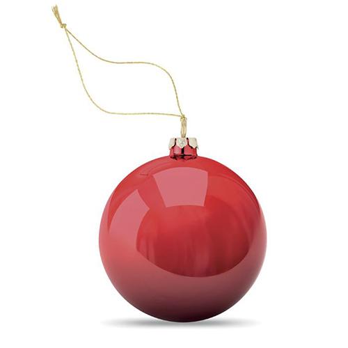 Kerstballen hoogglans rood