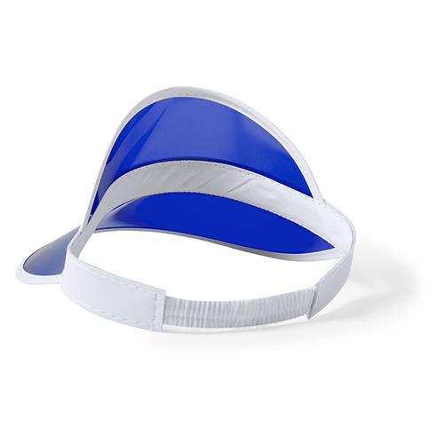 PVC zonneklep blauw achterkant
