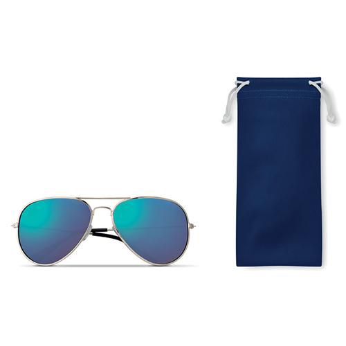 Piloten zonnebril blauw bedrukken