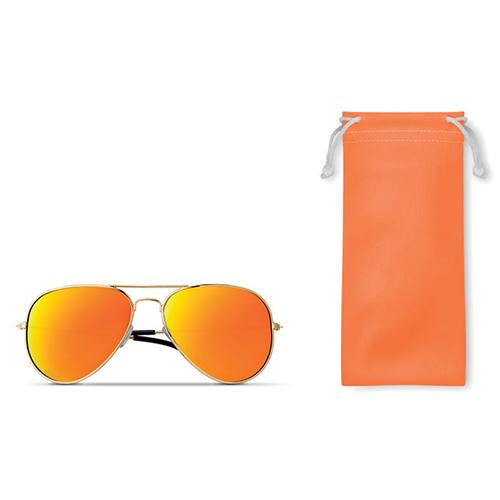 Piloten zonnebril oranje bedrukken