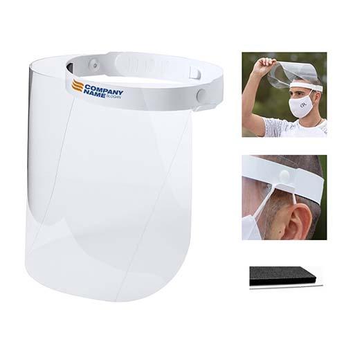 Transparante gezichtsbeschermer spatscherm