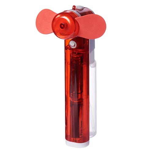 Ventilator met sproeier rood