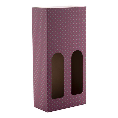 wijnbox 2 flessen paars