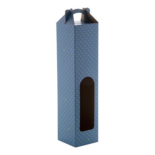 wijnbox c wijnfles 075l blauw