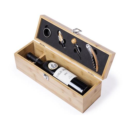 wijnset bamboehout accessoires sfeerfoto
