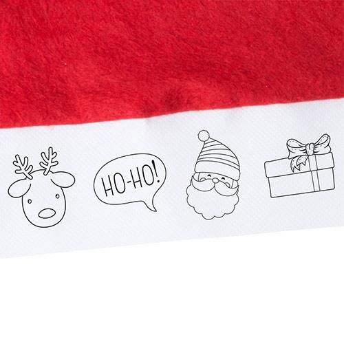 Kerstmuts ingezoomd tekeningen rood