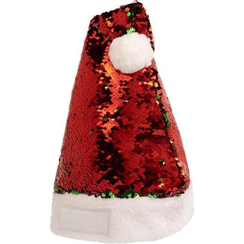 Kerstmuts pailletten rood