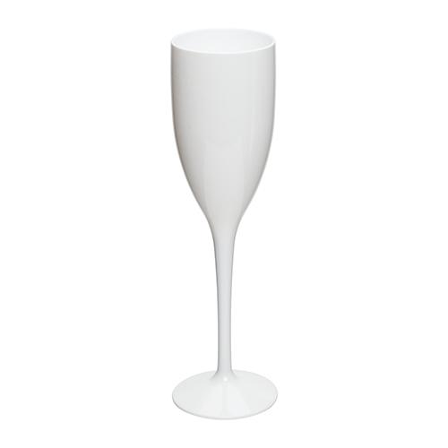 Kunststof champagneglas wit 15cl
