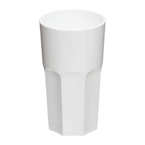 Kunststof retro glas wit 33cl