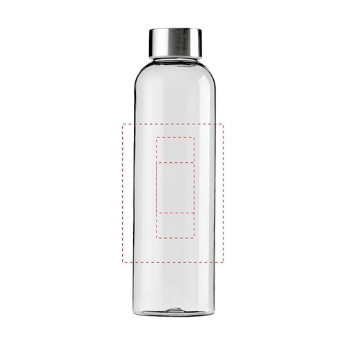 Waterfles Tritan 650ML transparant drukformaat