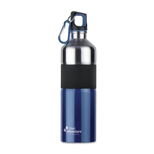 Drinkfles tenere roestvrijstaal blauw logo