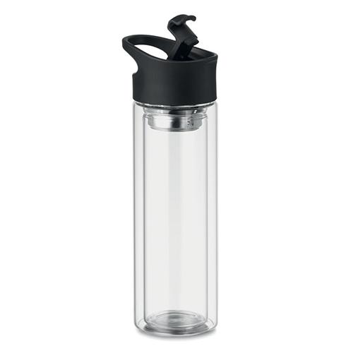 Glazen drinkfles bielo 380ML dop