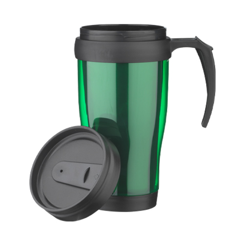 Thermo drinkbeker 400ML groen dop