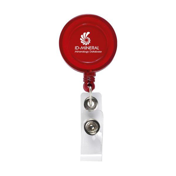 Badgeclip badgehouder rood