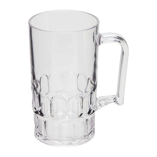 Kunststof bierpul transparant 30cl 2