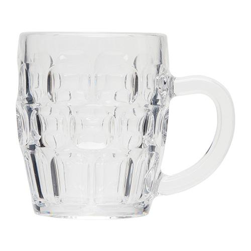 Kunststof bierpul transparant 35cl