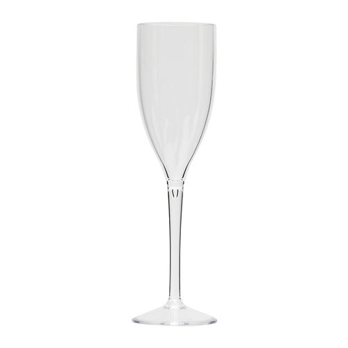 Kunststof champagneglas transparant