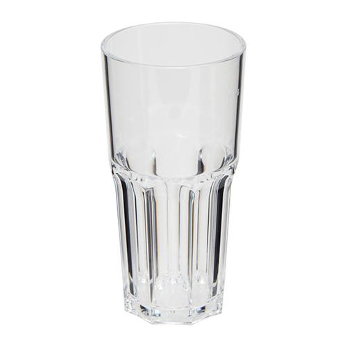 Kunststof glazen retro transparant 22cl