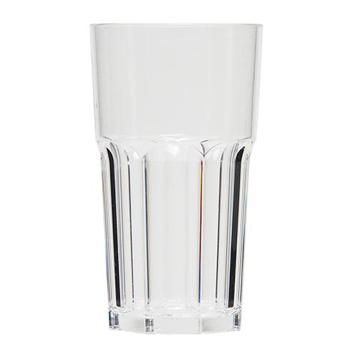 Kunststof glazen retro transparant 33cl