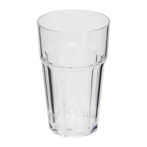 Kunststof retro glas transparant 33cl