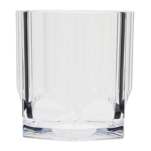 Kusntstof whiskeyglas transparant 38cl