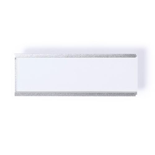 Naamplaatje aluminium voorkant