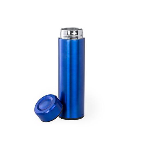 Thermosfles roestvrijstaal met filter blauw dop